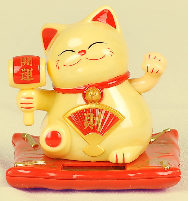 Buy Waving Hand Golden Lucky Wealth Cat with Hammer, Fortune Cat - Home Decor/Gifting - Small Online Cheapest