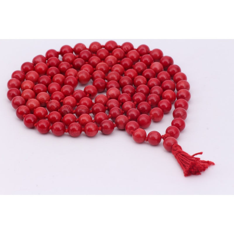 Natural Coral Stone Chain 8 mm for Meditation, Protection, Necklace for Unisex