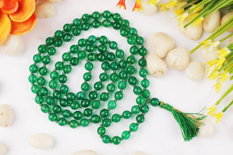 Green Onyx Original Chain 8 mm for Good Luck & Fortune Unisex