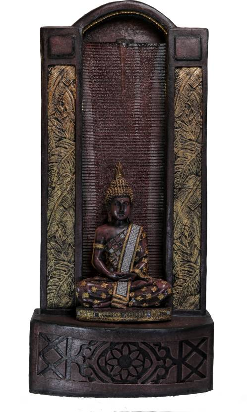 Gautam Buddha Water Fountain for Home/Office/Puja Room/House Warming Gift/Living Room/Hall/Terrace (125 cm X 56 cm X 35 cm)