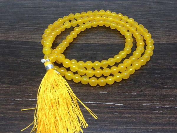 Buy Yellow Jade Original Chain 8 mm for Good Luck & Fortune Unisex Online at Best Price