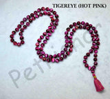 Buy Hot Pink Tiger Eye Gemstone Mala Rosary
