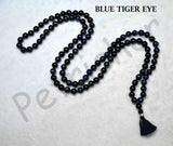 Buy Blue Tiger Eye Gemstone Mala Rosary
