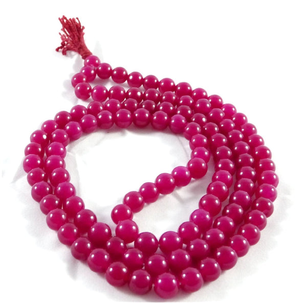 Buy Ruby Stone Chain 8 mm for Meditation, Protection, Necklace for Unisex Online at Best Price
