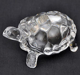 Fengshui Vastu Original Clear Crystal Turtle for Peace & Prosperity