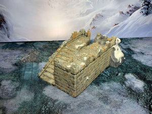 A 3D printed fort that is a piece of scatter terrain, designed for tabletop wargaming and Role Playing Games.