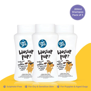 Wassup Pup? 200ml Pawesome Care Pack of 3 - Captain Zack