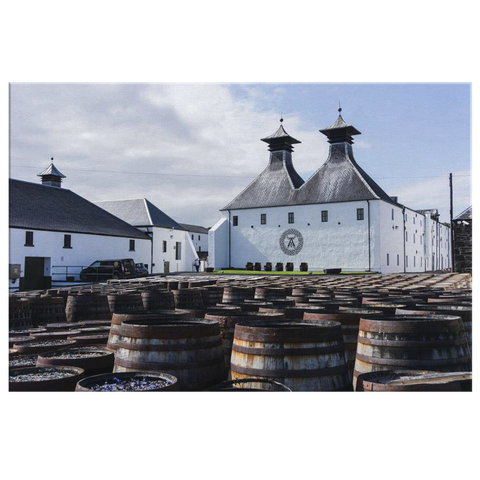 Ardbeg Scotch Distillery Canvas Wall Art