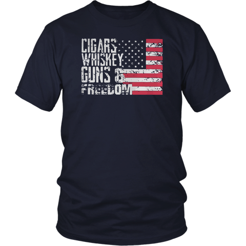 Cigars, Whiskey, Guns, And Freedom Tee