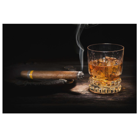 Whiskey & Cigar Canvas Wall Art