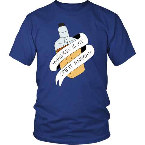Whiskey Is My Spirit Animal Bottle Tee