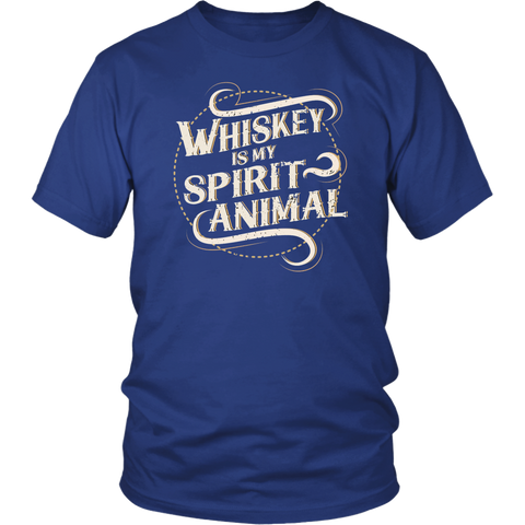 Whiskey Is My Spirit Animal Circle Design Tee