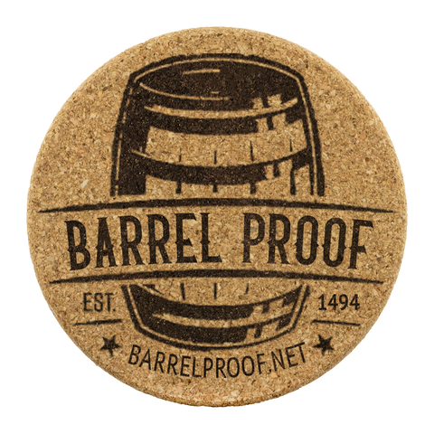 Barrel Proof Logo Cork Coaster Set