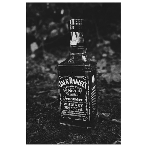 Jack Daniels Black & White Canvas Wall Art