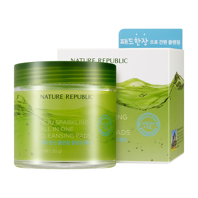 JEJU SPARKLING ALL IN ONE CLEANSING PADS (60 SHEETS)