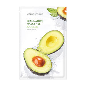 Load image into Gallery viewer, Real Nature Avocado Mask Sheet