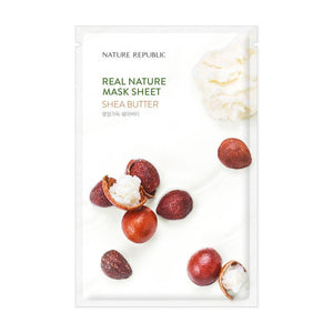 Load image into Gallery viewer, Real Nature Shea Butter Mask Sheet