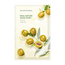 Load image into Gallery viewer, Real Nature Olive Mask Sheet