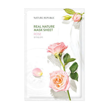 Load image into Gallery viewer, REAL NATURE ROSE MASK SHEET