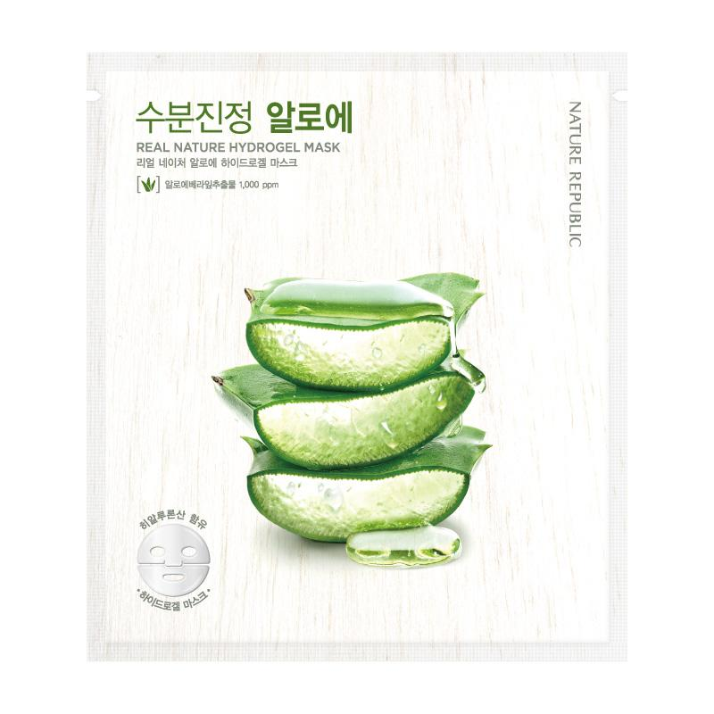Load image into Gallery viewer, Real Nature Aloe Hydrogel Mask