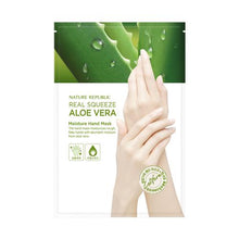 Load image into Gallery viewer, Real Squeeze Aloe Vera Moisture Hand Mask Sheet