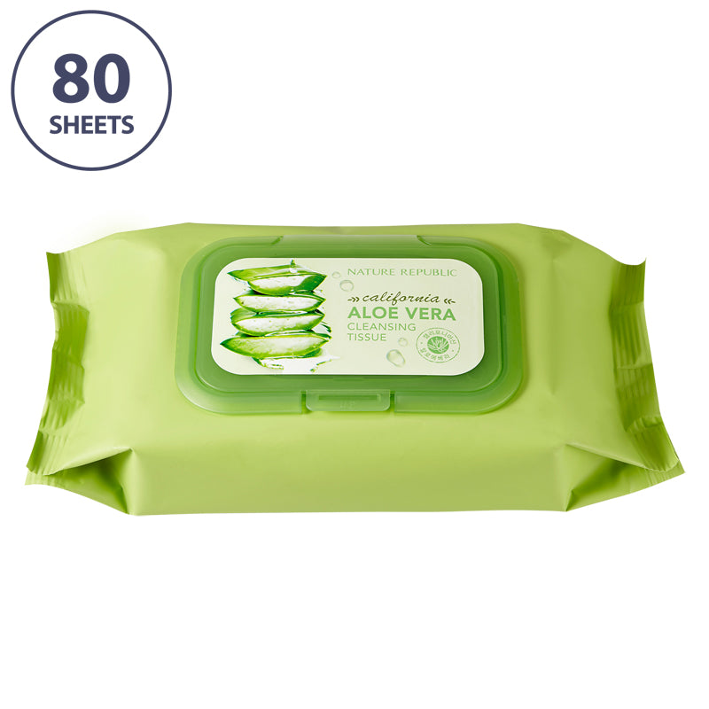 California Aloe Vera Cleansing Tissues (80 Sheets)