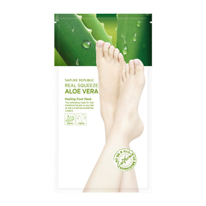 REAL SQUEEZE ALOE VERA PEELING FOOT MASK SHEET