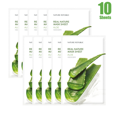 Real Nature Aloe Mask Sheet (10 SHEETS)