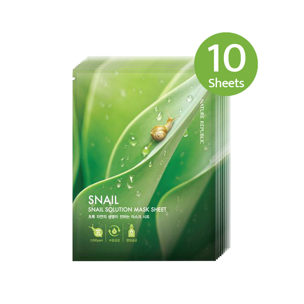 Snail Solution Mask Sheets (PACK OF 10)