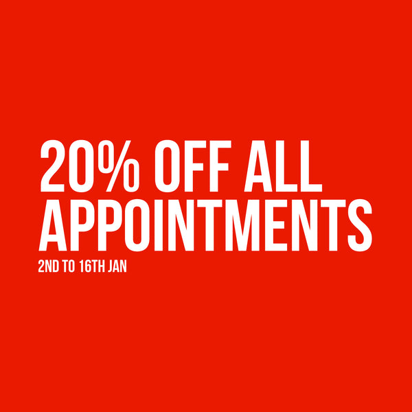 20% off all Appointments this January