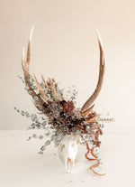 Load image into Gallery viewer, Floral Stags Skull