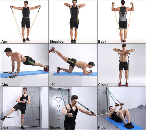 Workout Fitness Exercise Resistance Band Workout