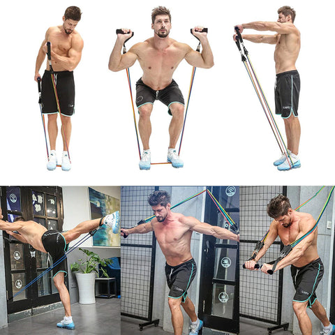 Fitness Exercise Resistance Band Workout