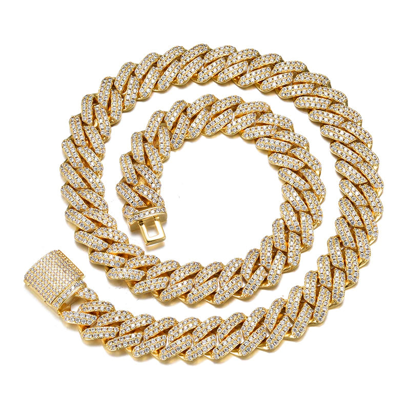12mm Iced Out Cuban Link Cubic Zirconia Necklace
