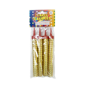 Gold Sparkling Candles (4 Pack)