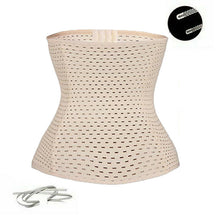 Load image into Gallery viewer, Beige Body Shaping Corset Waist Trainer