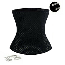 Load image into Gallery viewer, Black Corset Body Shaper Waist Trainer