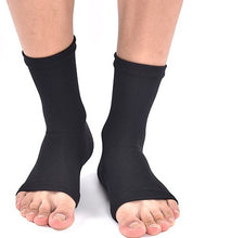Load image into Gallery viewer, Open Toe Plantar Fasciitis Compression Socks