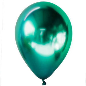"12"" Shiny Chrome Latex Balloons"