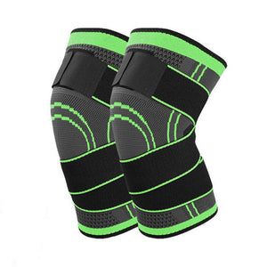 Knee Brace Compression Sleeve with Patella Stabilizer Straps