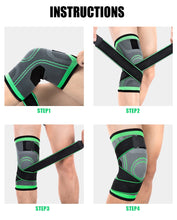 Load image into Gallery viewer, Knee Brace Compression Sleeve with Patella Stabilizer Straps