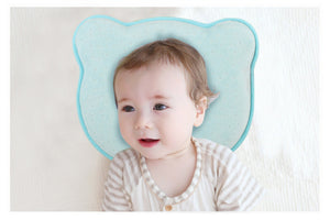 Hidetex Baby Bear Pillow - Preventing Flat Head Syndrome (Plagiocephaly) for Your Newborn Baby,Made of Memory Foam Head- Shaping Pillow and Neck Support (0-12 Months)