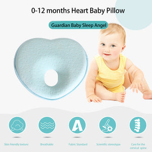 Baby Pillow-Newborn Baby Support Pillow with Memory Foam (Heart)
