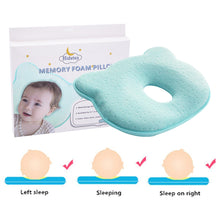 Load image into Gallery viewer, Hidetex Baby Bear Pillow - Preventing Flat Head Syndrome (Plagiocephaly) for Your Newborn Baby,Made of Memory Foam Head- Shaping Pillow and Neck Support (0-12 Months)