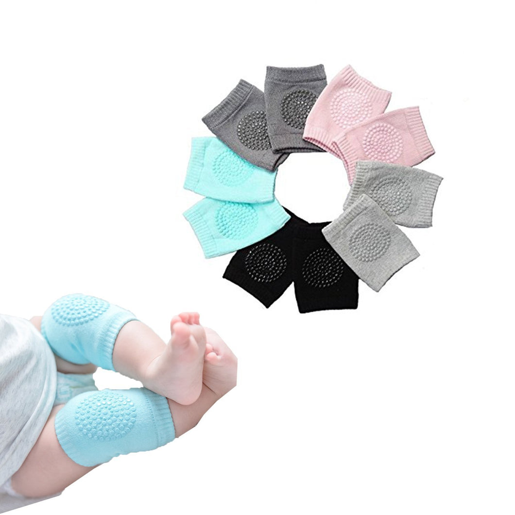 Hidetex Baby Knee Pads for Crawling – Infant Kneepads, Adjustable Elastic Leg Warmers, Anti-Slip Leg Protector for Unisex Toddlers (5 Pairs)
