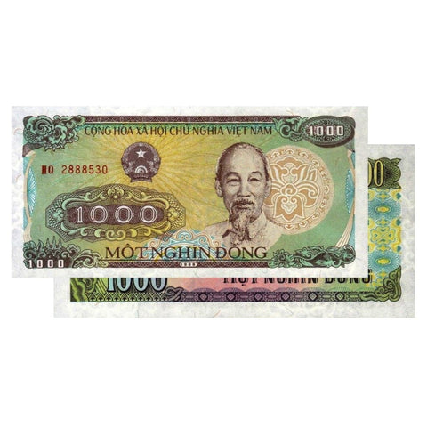 1 000 Vietnamese Dong Banknotes 1988 Vnd Uncirculated Great American Coin Company