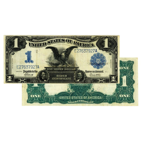 $1 - 1899 Black Eagle Silver Certificate - About Uncirculated