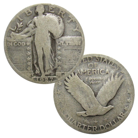 $1 Face - 90% Silver Standing Liberty Quarters Circulated