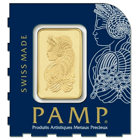 1 Gram .9999 Gold Bar - Pamp Suisse - Snap Bars