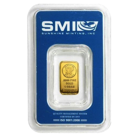 1 Gram .9999 Gold Bar - Sunshine Minting
